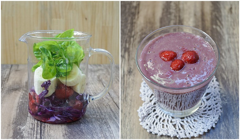 fruits and vegetable smoothie 21