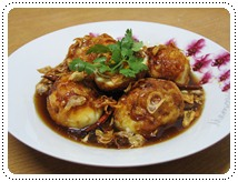http://pim.in.th/images/all-side-dish-chicken-egg-duck/fried-boiled-egg-in-sweet-tamarin-sauce/00.jpg
